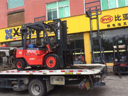 3 Stage Manual Forklift Truck , 4 Wheel Forklift Heavy Duty Driving Axle
