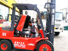 China Easy Operated 3.5ton Diesel Forklift Truck With 2 Stage 3 Meter Lifting Mast company