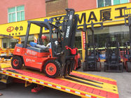 China Diesel Power 4 Wheel Forklift Truck , High Capacity Forklift 3000mm Lifting Height factory