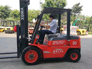 Manual Operated Material Handling Forklift 3000kg Rated Capacity Solid Tire