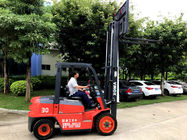China Anti Slip 3 Stage Mast Forklift , High Reach Forklift Diesel XinChai Engine company